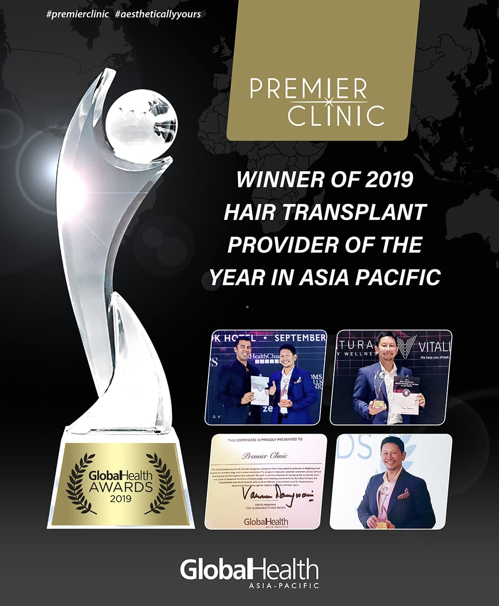 PREMIER CLINIC IS THE TOP HAIR TRANSPLANT PROVIDER ASIA PACIFIC 2019