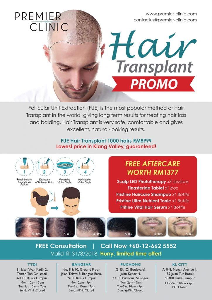 Premier Clinic Hair Transplant Promo 2018