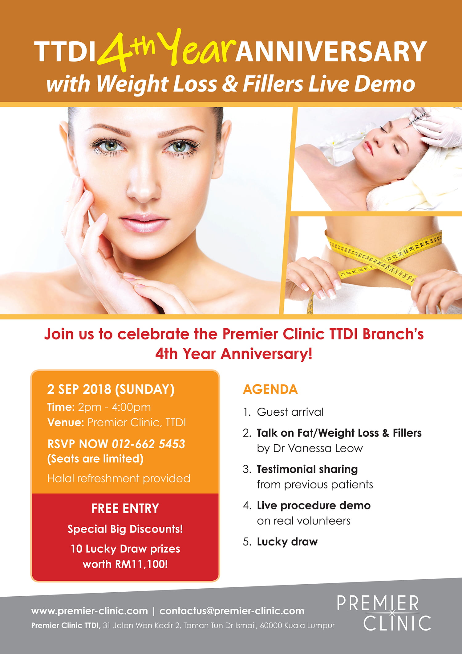 PREMIER CLINIC: TTDI BRANCH'S 4 TH YEAR ANNIVERSARY!