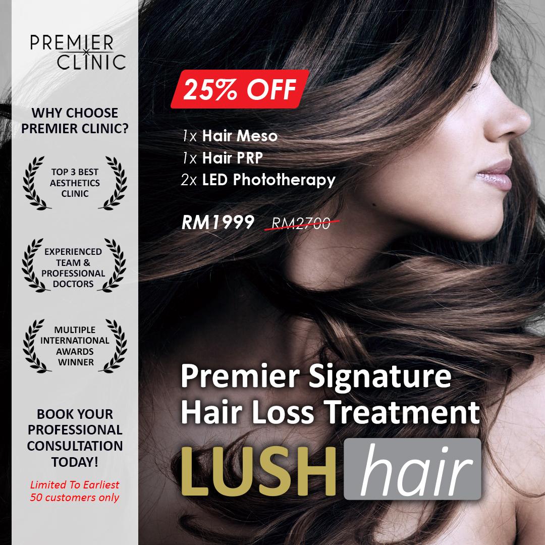 Premier Signature Hair Loss Treatment Lush Hair