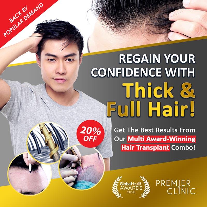 Premier HairGRO PRO - Hair Transplant Combo